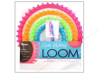 Darice Easy Knitting Loom Round Neon 4pc