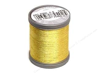 Threads Metallic Thread: Coats Metallic Thread 125 yd. Bright Gold