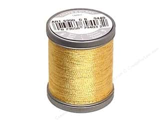 Threads Metallic Thread: Coats Metallic Thread 125 yd. Gold
