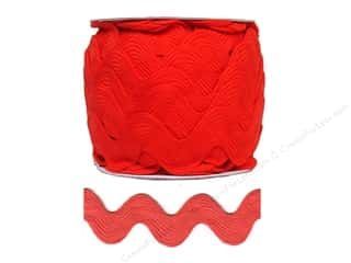 Trims Ribbon Work: Jumbo Ric Rac by Cheep Trims  1 13/32 in. Red (24 yards)