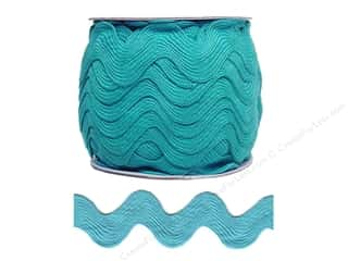 Jumbo Ric Rac by Cheep Trims  1 13/32 in. Turquoise