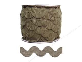 Jumbo Ric Rac by Cheep Trims  1 13/32 in. Dark Taupe
