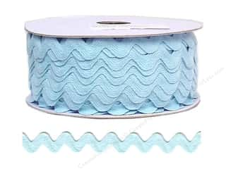 "Cheep Trims Ric Rac 11/16"": Ric Rac by Cheep Trims  11/16 in. Light Blue (24 yards)"