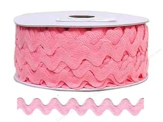 Ribbon Work Tapes: Ric Rac by Cheep Trims  11/16 in. Dark Pink (24 yards)