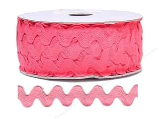Cheep Trims Sewing Ribbon: Ric Rac by Cheep Trims  11/16 in. Bright Pink (24 yards)