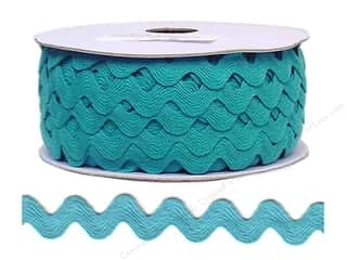 Ribbon Work Tapes: Ric Rac by Cheep Trims  11/16 in. Turquoise (24 yards)