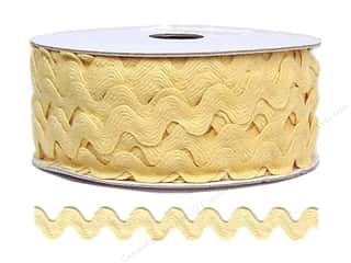 Ribbon Work Tapes: Ric Rac by Cheep Trims  11/16 in. Butter (24 yards)