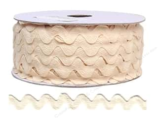 "Cheep Trims Ric Rac 11/16"": Ric Rac by Cheep Trims  11/16 in. Ivory (24 yards)"