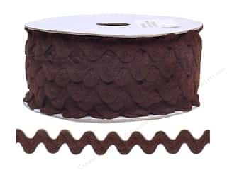 Cheep Trims Sewing Ribbon: Ric Rac by Cheep Trims  11/16 in. Brown (24 yards)