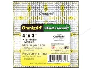 "Guidelines 4 Quilting 4"": Omnigrid Rulers 4""x 4"" with Grid"