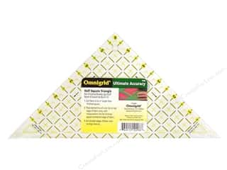 "Weekly Specials Omnigrid: Omnigrid Rulers Triangle Half Square Up to 6"" Block"