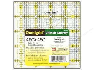 "Guidelines 4 Quilting Rotary Rulers & Templates: Omnigrid Rulers 4.5""x 4.5"" Ruler with Grid"