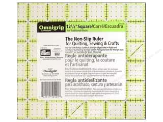 Omnigrid Omnigrip Non-Slip Neon Ruler 12.5&quot; Sq