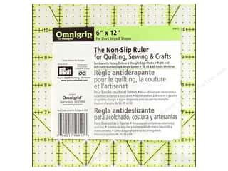 Omnigrid Omnigrip Non-Slip Neon Ruler 6&quot;x 12&quot;
