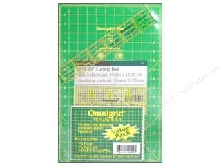 "Weekly Specials EZ Acrylic Templates: Omnigrid Rulers Mat & Ruler Set 9""x 6"""