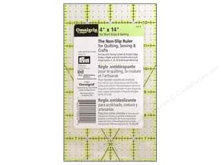 Omnigrid Omnigrip Non-Slip Neon Ruler 4&quot;x 14&quot;