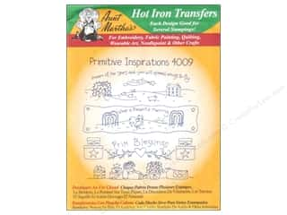 Hot Americana: Aunt Martha's Hot Iron Transfer #4009 Green Primitive Inspirations