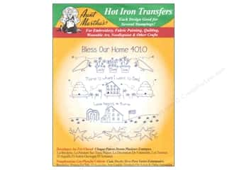 Borders Drawing: Aunt Martha's Hot Iron Transfer #4010 Green Bless Our Home