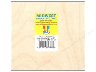 "Midwest Products Company Wood Shapes: Midwest Craft Plywood 1/4""x 12""x 12"""