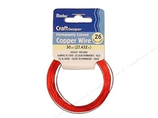 Wirework Darice Craft Wire: Darice Craft Wire 26 Ga Red 30yd