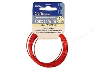 Wirework Darice Craft Wire: Darice Craft Wire 20 Ga Red 8yd