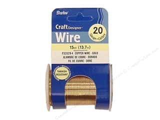 wire: Darice Craft Wire 20 Ga NonTarnish Gold 15yd