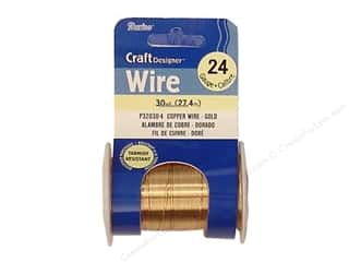 Wirework Darice Craft Wire: Darice Craft Wire 24Ga Gold 30yd