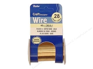 Wirework Darice Craft Wire: Darice Craft Wire 28Ga Gold 40yd