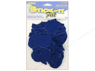 CPE: CPE Stick It Felt Letters & Numbers Royal 2""