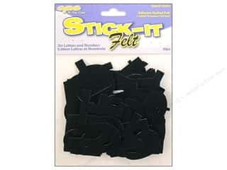Kids Crafts Black: CPE Stick-It Felt Letters & Numbers 2 in. Black