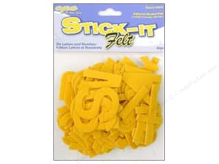 Felt ABC and 123: CPE Stick It Felt Letters &amp; Numbers Gold 2&quot;