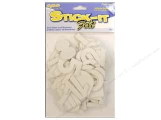 CPE Stick It Felt Letters & Numbers White 2""
