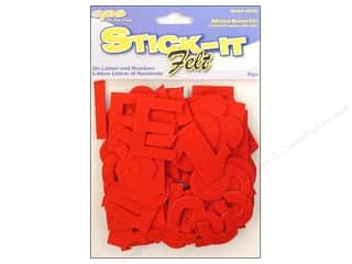 CPE Stick It Felt Letters & Numbers Red 2""