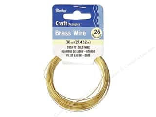 26 ga wire: Darice Craft Wire 26 Ga Gold 30yd