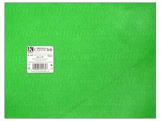 "Kunin Felt 9""x 12"" Apple Green 24pc (24 sheets)"