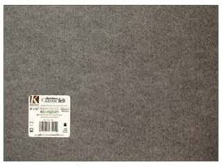 "Kids Crafts Kunin Felt 9""x 12"": Kunin Felt 9 x 12 in. Smoke (24 pieces)"
