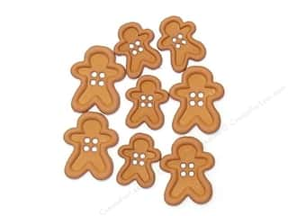 Jesse James Embellishments Chunky Shapes Gingerbread Men