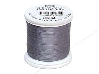 YLI: YLI Silk Thread 100 wt. 220 yd. Light Grey