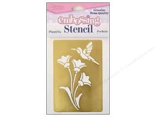 Darice Stencils Embossing Brass Flowers & Bird
