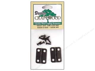 Hardware Home Decor: Darice Hinges 7/8 in. Black 2 pc.
