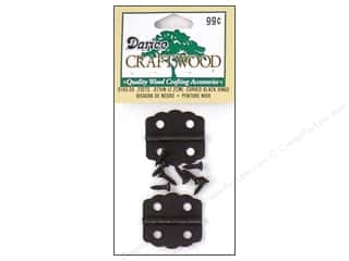 "Darice Hardware Craftwood Hinge 7/8"" Black Curved 2 sets"