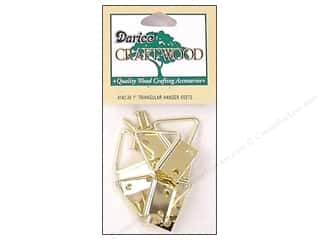 "Darice Hardware Craftwood Hanger Triangle 1"" 6pc"