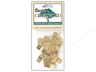 Darice Sawtooth Hangers 1 5/8 in. Brass 8 pc.