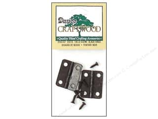 Hardware Home Decor: Darice Hinges 1 in. Black 2 pc.