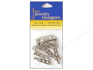 "Darice Jewelry Designer Pin Back 1"" Nickel 10pc"