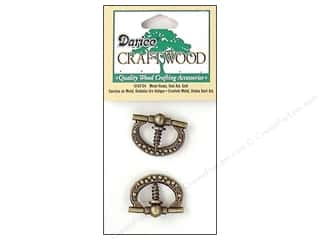 "Darice Hardware Craftwood Plaque Ring 7/8"" Antique Gold Oval 2pc"
