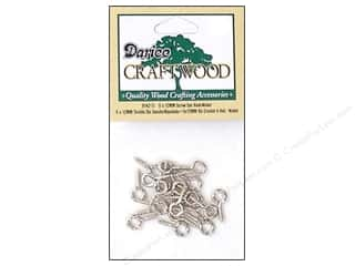 Hardware Hardware Hooks: Darice Screw Eye Hooks 3/16 x 1/2 in. Nickel 20 pc.