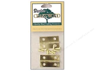 "Darice Hardware Craftwood Hinge 1.25"" Brass 2 sets"