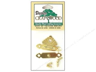 Darice Hardware Clasp Button 1.5&quot; Brass Curved