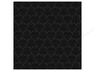 Doodlebug Paper 12&quot;x 12&quot; Serenade Glitter Beetle Black (25 sheets)